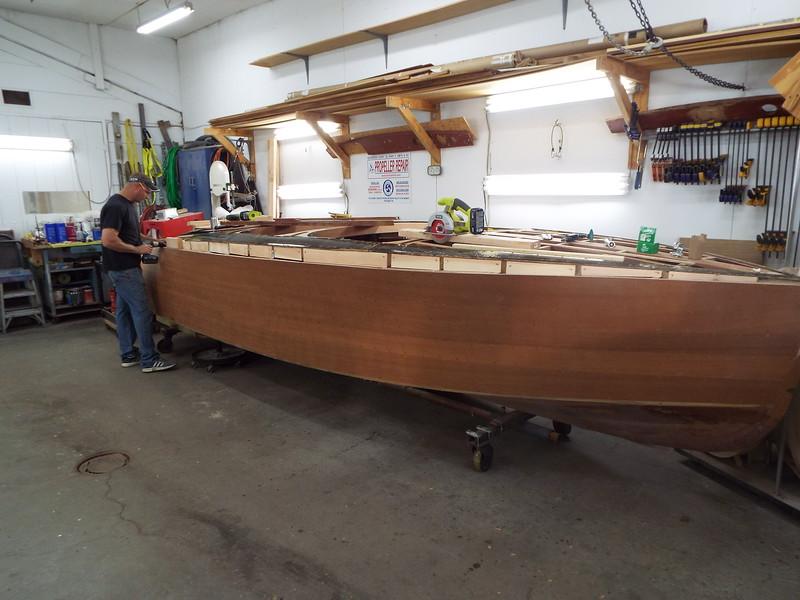 Starboard deck blocking fit.