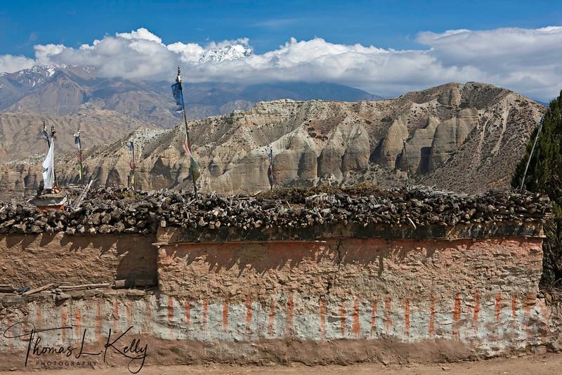 Exterior in Samar. Mustang, Nepal.