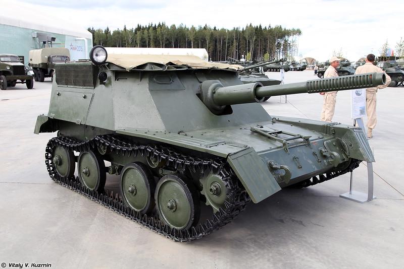 Авиадесантная самоходная артиллерийская установка АСУ-76 (ASU-76 self-propelled gun)