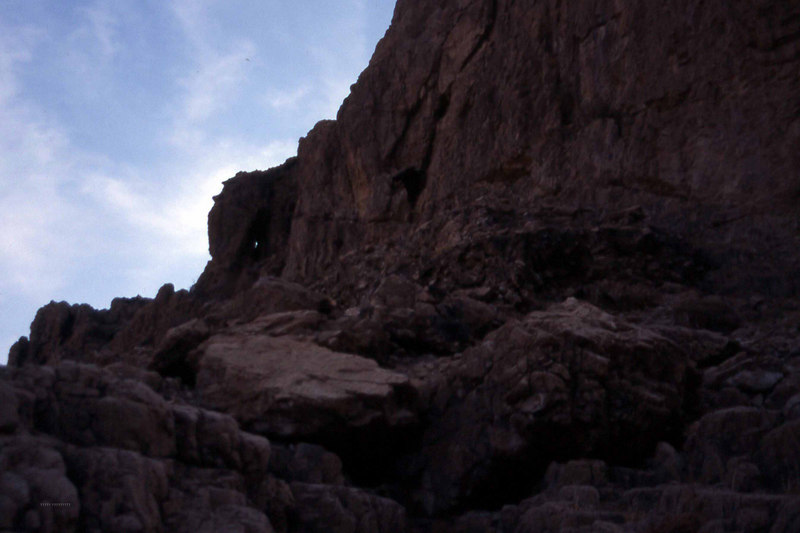 Qumran-landkapet er et vilt og uhåndterlig landskap med banditter, beduiner, eremitter og andre som på en eller annen måte har vært nødt til eller som har ønsket å leve i dette området ca. 30 km fra Jerusalem. (Skikkelig vildt, ikke sant?). (Foto: Geir)