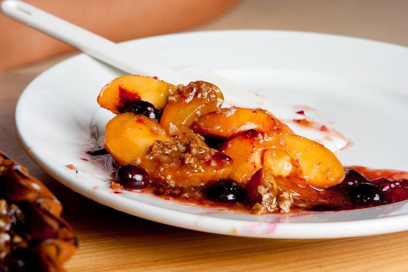 Blueberry/Peach Crisp.