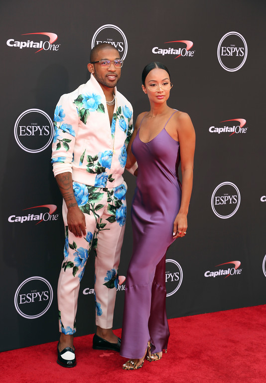 . Washington Redskins\' Orlando Scandrick, left, and Draya Michele arrive at the ESPY Awards at Microsoft Theater on Wednesday, July 18, 2018, in Los Angeles. (Photo by Willy Sanjuan/Invision/AP)