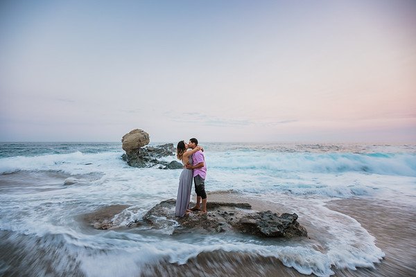Bianca and Yarell | Laguna Beach Engagement | Table Rock Beach