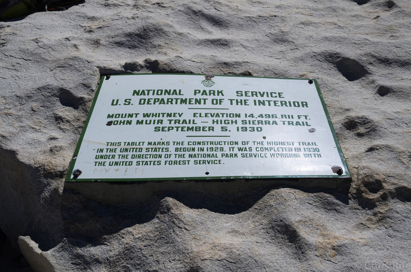 Official marker at the top