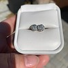 1.70ctw Old European Cut Diamond Clover Stud Earrings, GIA H-I SI 8
