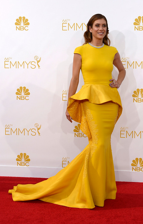 . Kate Walsh on the red carpet at the 66th Primetime Emmy Awards show at the Nokia Theatre in Los Angeles, California on Monday August 25, 2014. (Photo by John McCoy / Los Angeles Daily News)