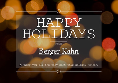 Berger Kahn - 2014 Holiday Card