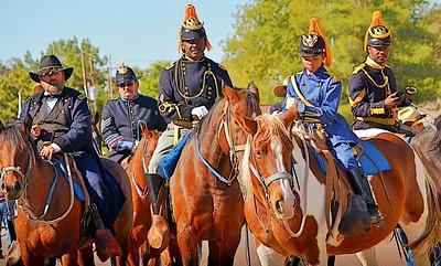 "Official Arizona Centennial Legacy ""Buffalo Soldiers of the Arizona Territory"", 9th and 10th Cavalry, Mesa, Arizona"