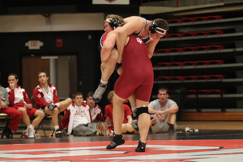 GWU's Justin Kozera wrestling.