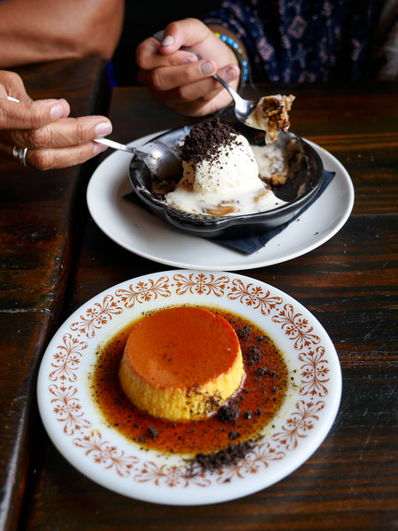 Cookie Skillet & Cuban Flan