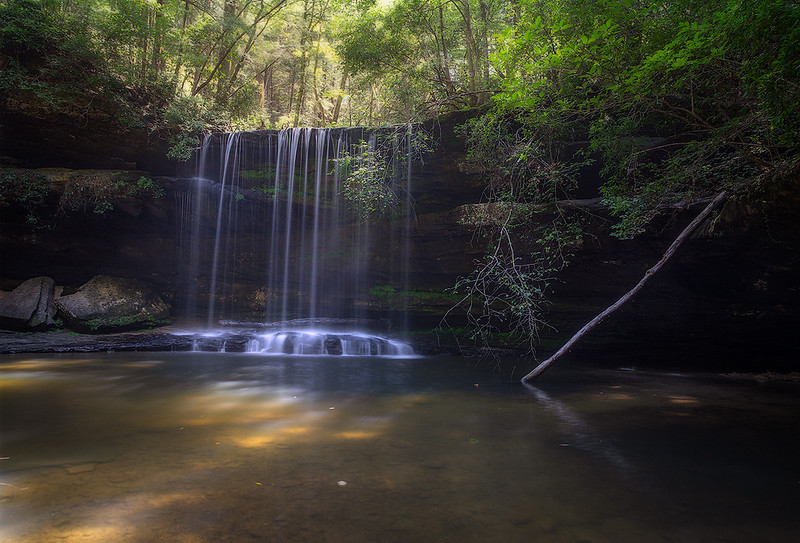 Caney Creek Falls Summer Light web.jpg