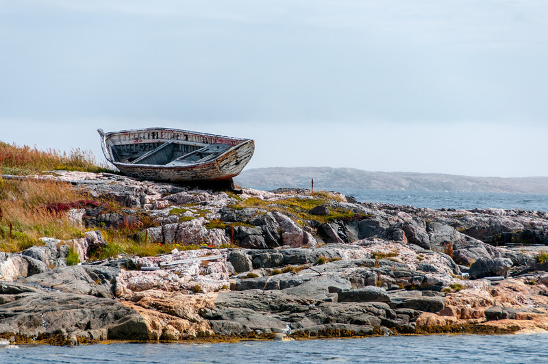 Ship wreck in Battle Harbour, Canada