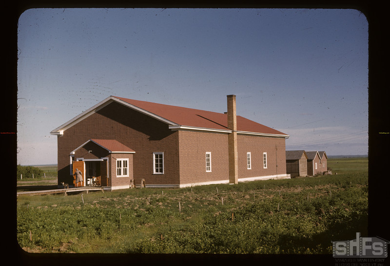 Parish hall - anti-TB clinic. Gravelbourg.   06/11/1947