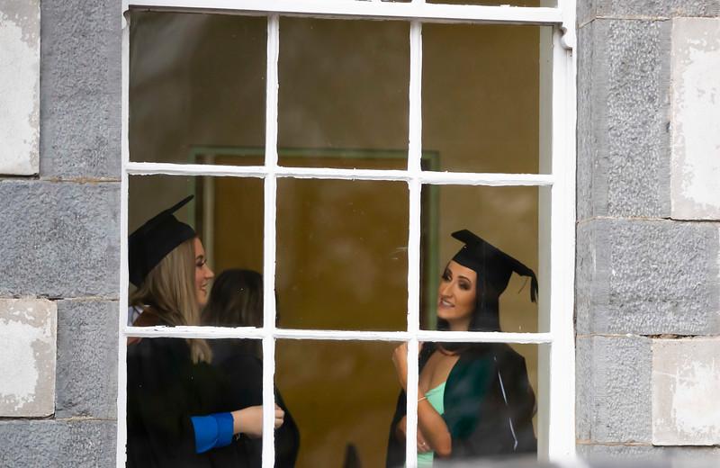 30/10/2019. Waterford Institute of Technology (WIT) Conferring Ceremonies. Pictured are Saoirse Mc Areavey Waterford City and Amy Power Carrick on Suir who graduate Bachelor of Business Hons.. Picture: Patrick Browne