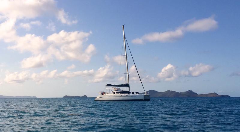 The 8 passenger Whitsunday Getaway sailing catamaran