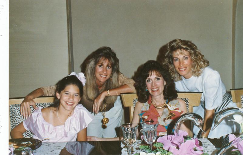 Whitnney, Darling Fogel, nancy, Pam SzaboDarlings house in BelAir. surprise party for Nancy.Sept. 5th , mid 80s