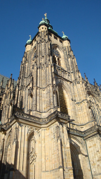 St Vitus Cathedral tower b.JPG