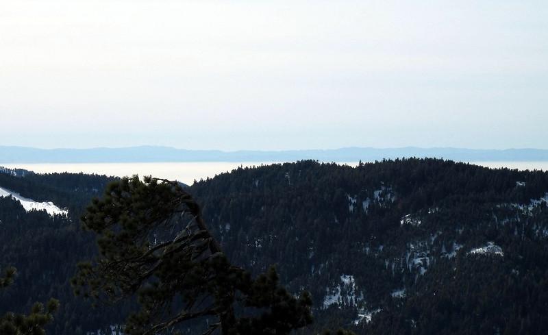 cloud layer in San Juaquin Valley