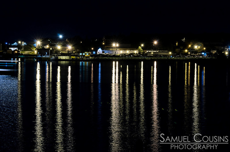 Looking over at South Portland at night.