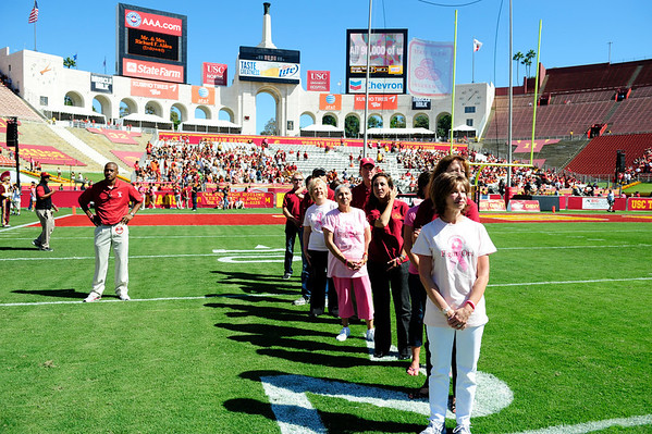 USC Football v Arizona 2011 - Half Time - Breast Cancer/Norris