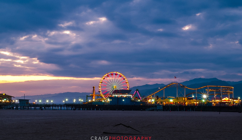 Santa Monica Pier Sunset 1