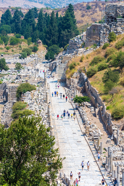 The Marble Street from the Celsus Library to the Grand Theater