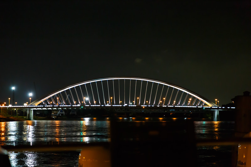 Bridge at night.