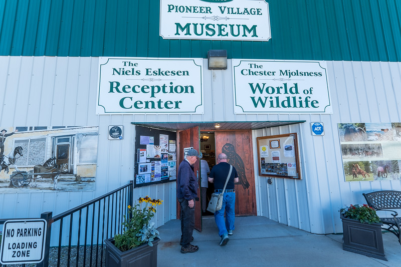 Entering the Pioneer Village Museum & World of Wildlife