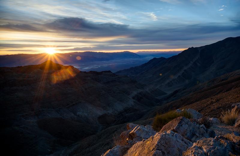 Sunburst over the valley