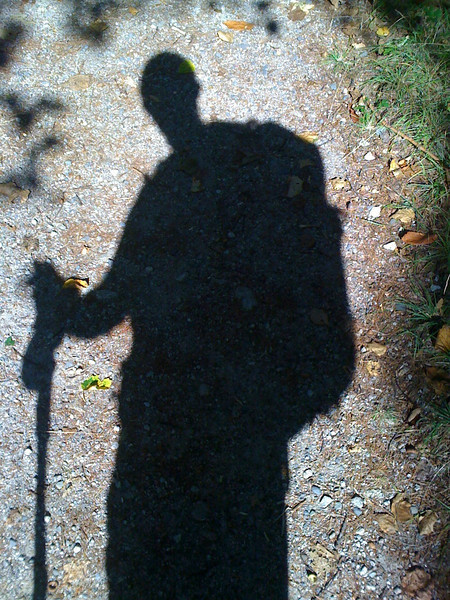 My Shadow in Baxter State Park
