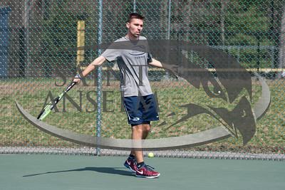 Men's Tennis vs. Merrmiack (04/15/17) Courtesy Jim Stankiewicz