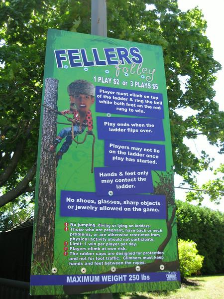 Fellers Folley sign.