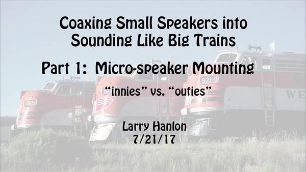 Small Speaker Comparison 2017