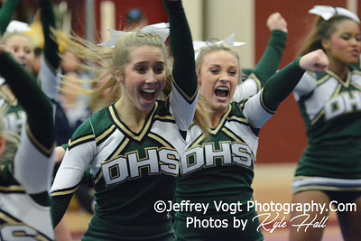 1-24-2015 Damascus HS at Panther Cheer Competition, Photos by Jeffrey Vogt Photography with Kyle Hall