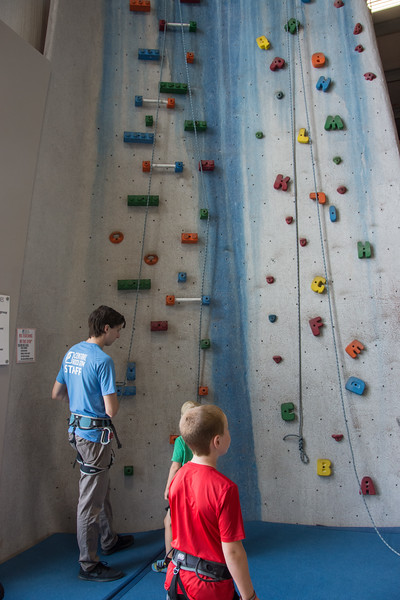 Nolan and Ian Wall Climbing