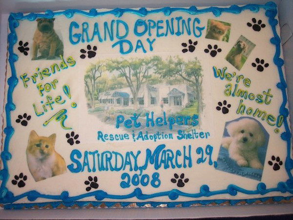 The Grand Opening cake
