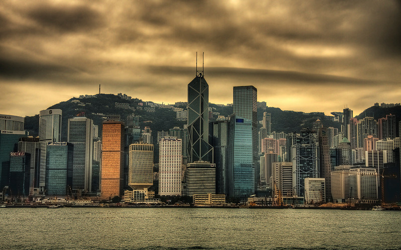 Ominous: Hong Kong, China (HDR Image)
