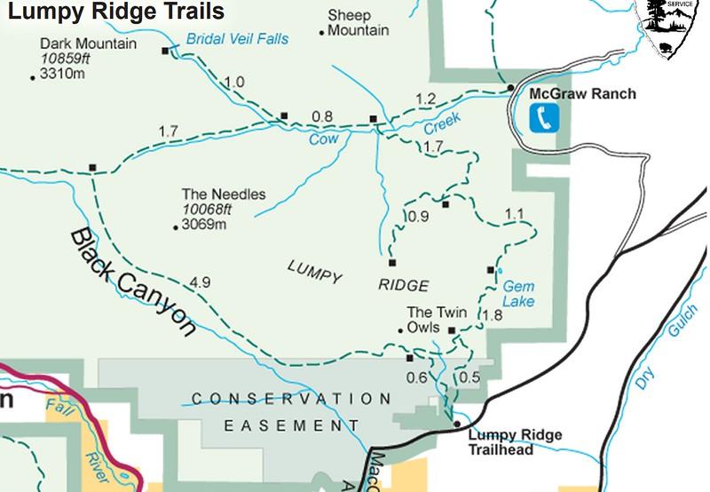 Rocky Mountain National Park (Trails - Lumpy Ridge Area)