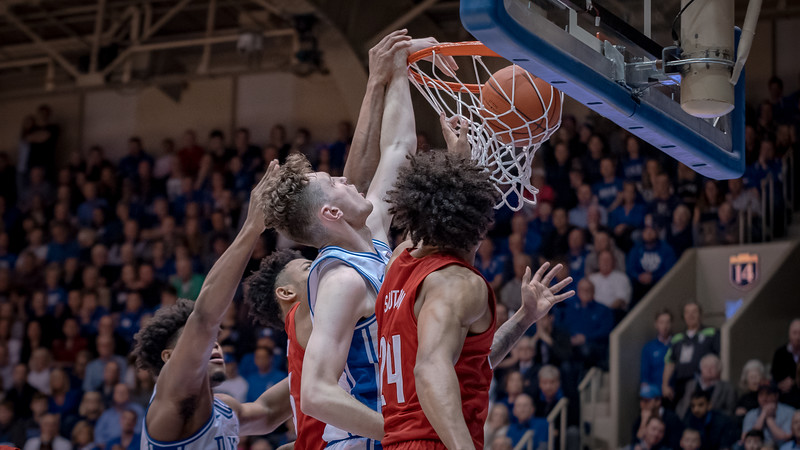 January 18, 2020: Duke Forward Matthew Hurt (21)during the NCAA Basketball game between the Louisville Cardinals and Duke Blue Devils at Cameron Indoor Stadium in Durham, NC.  Brian McWalters/CSM
