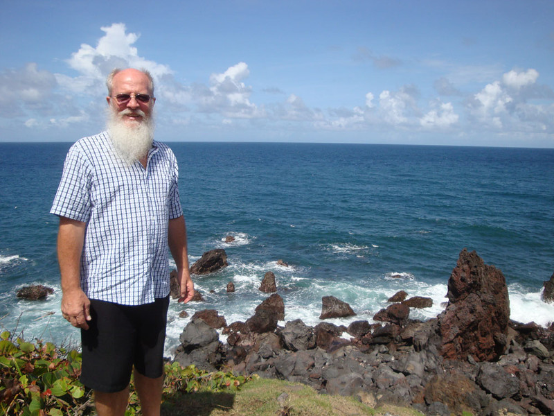 This is Eddy, the husband of one of the faculty members. Given that beard I'm convinced he secretly plays guitar for ZZ Top. He very kindly gave me an extensive tour of the island.