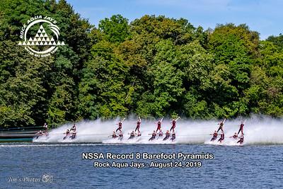 Waterski - Rock Aqua Jays Barefoot Pyramid - Aug 24, 2019