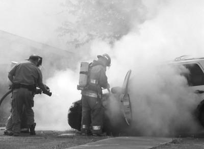 Car Fire on Chestoa Pike