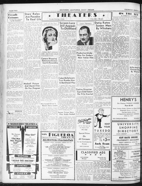 Daily Trojan, Vol. 23, No. 105, March 10, 1932