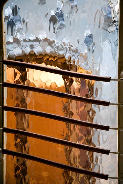 Cristales esmerilados, Casa Batlló, obra de Gaudí, paseo de Gracia, Barcelona