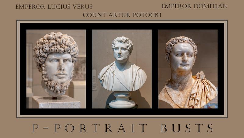 Alphabet Challenge:  P – Portrait Busts  (9/15/18)