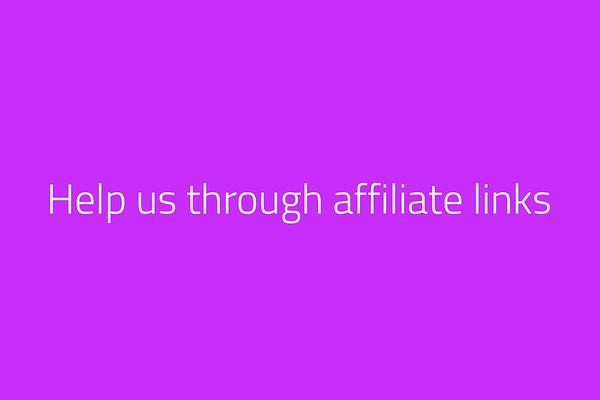 Help us through affiliate links