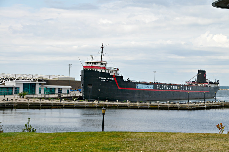 Ore ship converted to a museum\