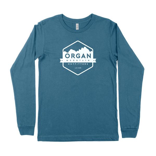 Outdoor Apparel - Organ Mountain Outfitters - Mens T-Shirt - Classic Long Sleeve Tee - Deep Teal.jpg