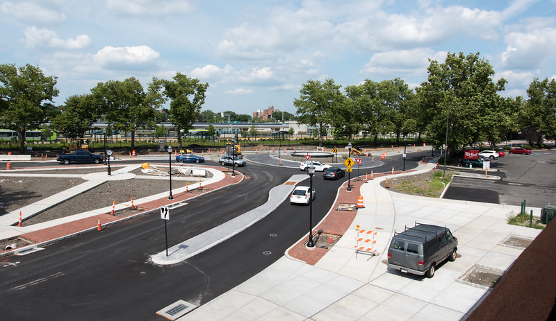 07/31/18  Wesley Bunnell   Staff  Cars and pedestrians passing through the Columbus Boulevard traffic circle on Tuesday afternoon,
