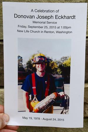 Renton Firefighter Donovan Eckhardt Memorial